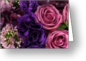 Flower Blossom Greeting Cards - A Close-up Of A Bouquet Of Flowers Greeting Card by Nicholas Eveleigh