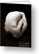 Nudes Photo Greeting Cards - Aiden Greeting Card by Carl Deal