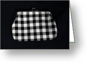 Checkered Greeting Cards - Black And White Greeting Card by Joana Kruse