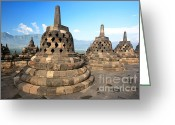 Borobudur Greeting Cards - Borobudur Greeting Card by MotHaiBaPhoto Prints