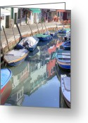 Stores Greeting Cards - Burano Greeting Card by Joana Kruse