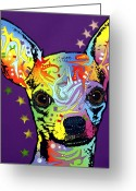 Pop Art Mixed Media Greeting Cards - Chihuahua Greeting Card by Dean Russo