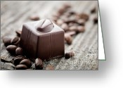 Mocha Greeting Cards - Chocolate Greeting Card by Kati Molin