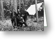 Encampment Greeting Cards - Civil War: Soldiers Greeting Card by Granger