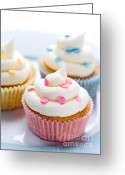 Whipped Topping Greeting Cards - Cupcakes Greeting Card by Ruth Black