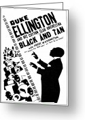 Big Band Greeting Cards - Duke Ellington (1899-1974) Greeting Card by Granger