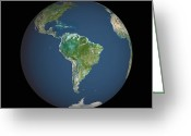 Amazon Greeting Cards - Earth Greeting Card by Planetobserver
