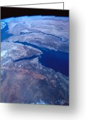 Perfection Greeting Cards - Earth Viewed From A Satellite Greeting Card by Stockbyte