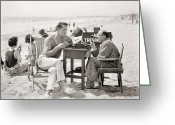 Typewriter Greeting Cards - Film Still: Beach Greeting Card by Granger