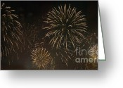 Pyrotechnics Digital Art Greeting Cards - Firework Greeting Card by Odon Czintos