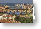 Florence Greeting Cards - Florence Greeting Card by Joana Kruse