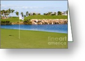 Athlete Greeting Cards - Florida Gold Coast Resort Golf Course Greeting Card by ELITE IMAGE photography By Chad McDermott
