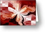 Brown Digital Art Greeting Cards - Flower Greeting Card by Kristin Kreet