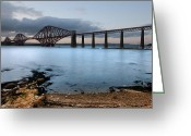 Brdige Greeting Cards - Forth Rail Bridge Greeting Card by Keith Thorburn