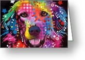 Dog Greeting Cards - Golden Retriever Greeting Card by Dean Russo