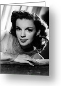 Judy Greeting Cards - Judy Garland (1922-1969) Greeting Card by Granger