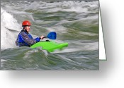 Prowess Greeting Cards - Kayak Greeting Card by Mark Weber
