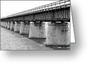 Florida Bridges Greeting Cards - 7 Miles Greeting Card by Kendra Clayton