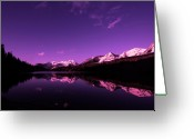 Lake With Reflections Greeting Cards - Mountain Lake Greeting Card by Mark Smith