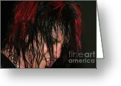 Tommy Lee Greeting Cards - Nikki Sixx Greeting Card by Christopher  Chouinard