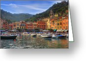 Celebrities Photo Greeting Cards - Portofino Greeting Card by Joana Kruse