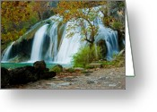 Oklahoma Landscape Greeting Cards - Turner Falls Greeting Card by Iris Greenwell