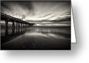 Water Framed Prints Posters Greeting Cards - Tybee Island Greeting Card by Gagan  Dhiman