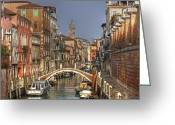 Gondola Photo Greeting Cards - Venice - Italy Greeting Card by Joana Kruse