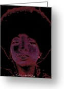 Disco Mixed Media Greeting Cards - 70s Greeting Card by Sean Abbott