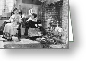 Daily Life Greeting Cards - Silent Film Still Greeting Card by Granger
