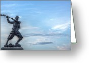 1st Minnesota Greeting Cards - 72nd Pennsylvania Infantry Monument at Gettysburg  Greeting Card by Randy Steele