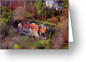 Chestnut Hill Wyndmoor Blue Bell Aerial Photographs Greeting Cards - 744 Merion Square Road Gladwyn Pennsylvania Greeting Card by Duncan Pearson