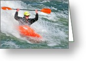 Prowess Greeting Cards - Kayaking Greeting Card by Mark Weber