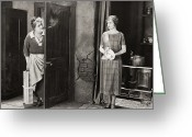 Smoker Greeting Cards - Silent Film Still Greeting Card by Granger