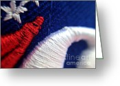 76ers Greeting Cards - 76ers Abstract Greeting Card by Matt Zerbe
