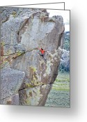 Vertigo Greeting Cards - Climber Greeting Card by Mark Weber