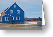 Blue House Greeting Cards - 79 Degrees North L Greeting Card by Terence Davis