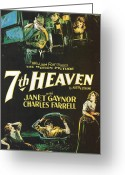 Motion Picture Greeting Cards - 7th Heaven Greeting Card by Nomad Art And  Design