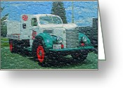 Truck Shows Greeting Cards - 7UP Truck Greeting Card by Randy Harris
