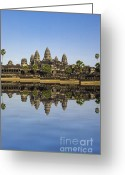 Sacred Photo Greeting Cards - Angkor wat Greeting Card by MotHaiBaPhoto Prints