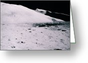 Lunar Photo Greeting Cards - Apollo Mission 16 Greeting Card by Nasa