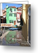 Flooding Photo Greeting Cards - Burano.VENICE Greeting Card by Bernard Jaubert