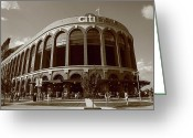 Leagues Greeting Cards - Citi Field - New York Mets Greeting Card by Frank Romeo
