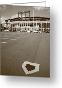 Brooklyn Dodgers Stadium Greeting Cards - Citi Field - New York Mets Greeting Card by Frank Romeo