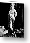1930s Greeting Cards - Clara Bow (1905-1965) Greeting Card by Granger