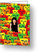 Merchandise Painting Greeting Cards - Crowd Greeting Card by Patrick J Murphy