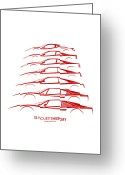 Ferrari 458 Greeting Cards - Ferrari V8 Greeting Card by Gabor Vida