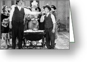 Bowtie Greeting Cards - Film Still: Eating & Drinking Greeting Card by Granger