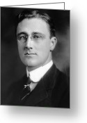 Fdr Greeting Cards - Franklin Delano Roosevelt Greeting Card by Granger