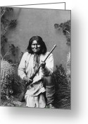 Native American Greeting Cards - Geronimo (1829-1909) Greeting Card by Granger